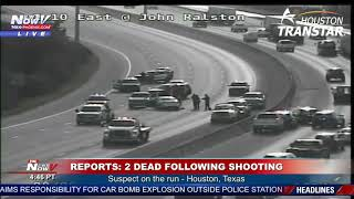 HOUSTON FREEWAY CLOSED: Following rush hour breaking news situation
