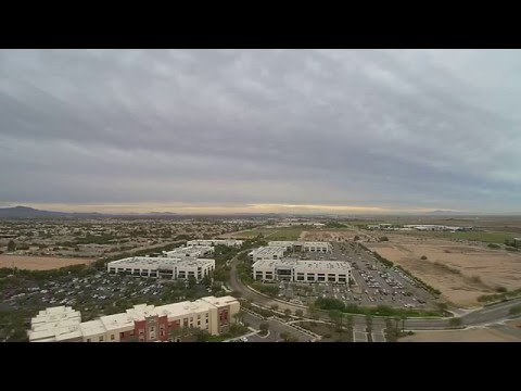 Yuneec Q500+ Drone flying over Homewood suites Chandler Arizona