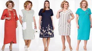 Летние платья из льна Платья белорусских производителей
