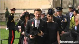 Royal wedding video: Beckhams among celebrity guests for Prince William and Kate Middleton's big day