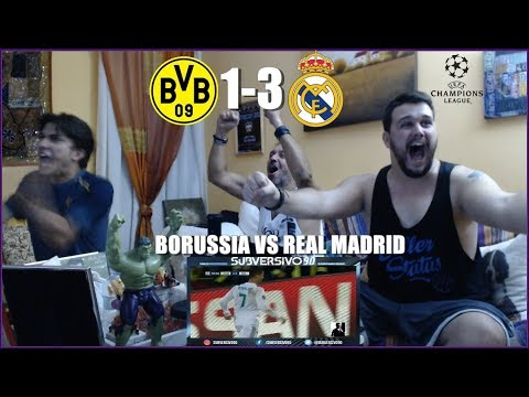 BORUSSIA DORTMUND VS REAL MADRID 1-3   REACCIONES   CHAMPIONS LEAGUE   HIGHLIGHTS