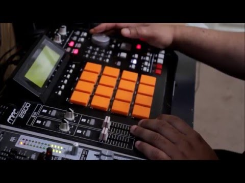 Hip hop sample beat making on mpc