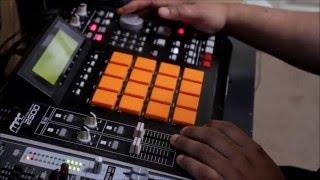 Hip hop sample beat making on mpc