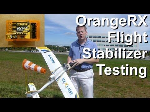 OrangeRx 3-Axis Stabilizer Flight Testing - using Bixler Glider