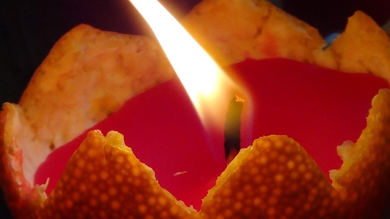 Jak zrobić dekoracyjne świeczki w pomarańczy