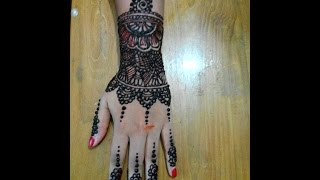 Full Hand Bridal Henna/Mehndi Designs Indian Wedding New Design