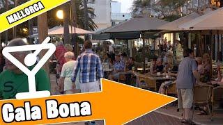 Cala Bona Majorca Spain: Evening and nightlife