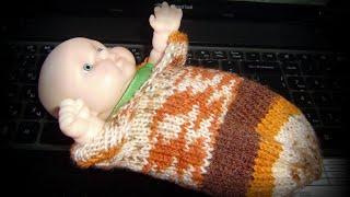 Кокон-конверт для младенца спицами. Вязание с Людмилой Тен(Такие коконы используют не только для фотосессий, оказывается, они удобны для младенцев в первые месяцы..., 2014-10-05T07:29:01.000Z)