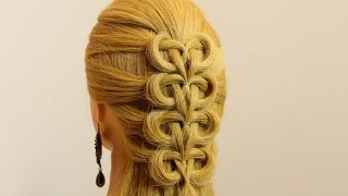 Hairstyle for school for long hair tutorial