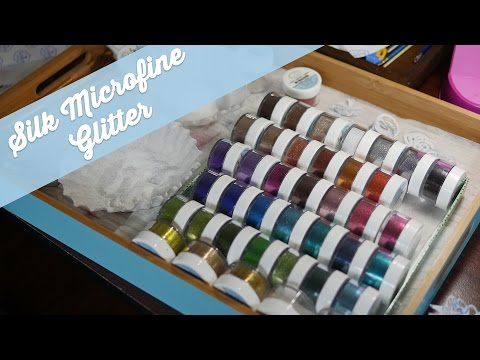 Elizabeth Craft Designs Silk Microfine Glitter Youtube