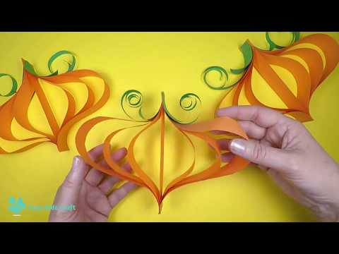 Hanging Paper Pumpkin Halloween Decorations | Halloween Craft