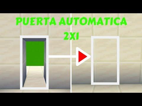 !!!PUERTA AUTOMATICA 2X1-SALE DEL SUELO!!!Minecraft-2019