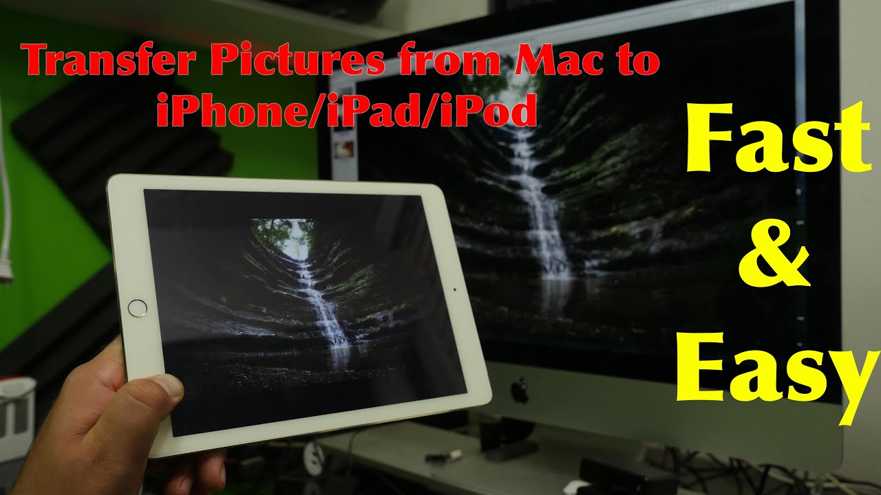 Transfer Photos From Mac To Iphone Easy Youtube