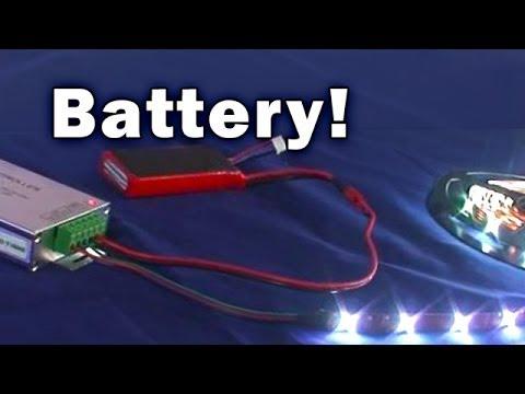 Battery Powered LED Light Strips SIRS-E - YouTube