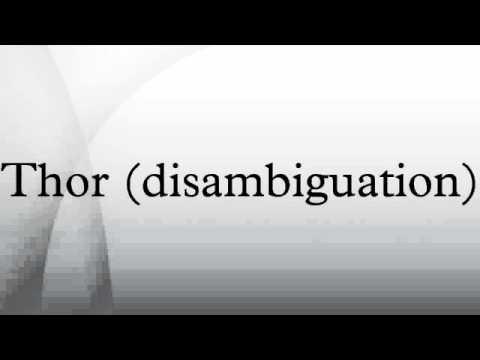 Thor (disambiguation)