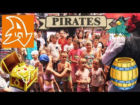 Пиратская яхта Барбосса. Дискотека. Детская анимация в Турции