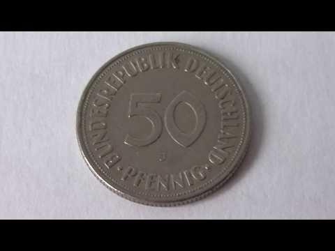 50 Pfennig Germany 1950 J   Deutsche Mark Coin