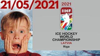 Чемпионат мира по хоккею 2021 в Риге 21 05 2021 Все итоги и результаты