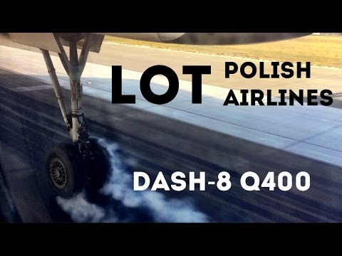 LOT Polish Airlines, Economy Class, Dash 8 Q400, Warsaw to Krakow