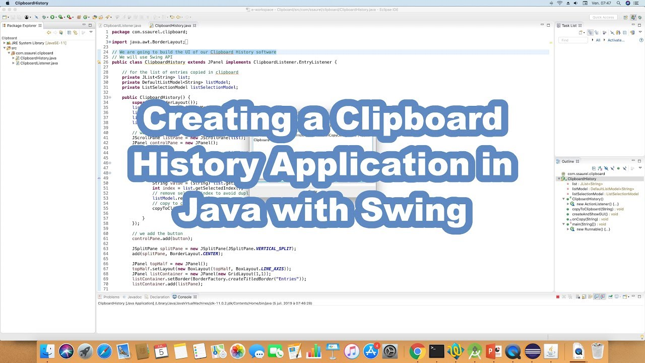 swing history java