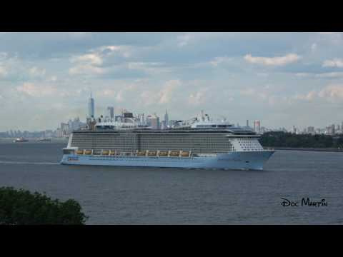 Anthem Of The Seas Leaving Bayonne,  New Jersey - June 26, 2017 [4K]
