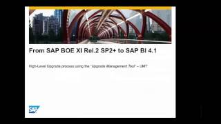 Upgrade Process: Moving from BusinessObjects XI Release 2/3.1 and BI 4.0 to BI 4.1