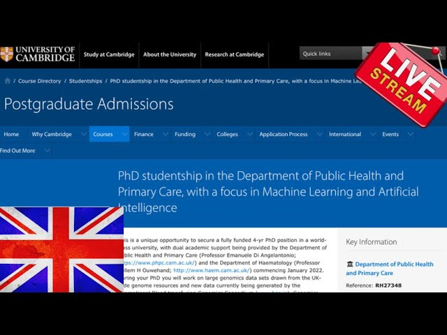 Ph.D International Studentships in Machine Learning and Artificial Intelligence-Cambridge University