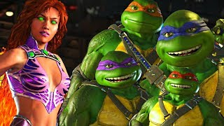 Injustice 2 - Ninja Turtles vs Starfire All Intro Dialogue
