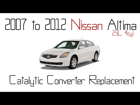 2007 to 2012 Nissan altima 2.5L catalytic converter replacement – Exhaust manifold DIY w/Voice over