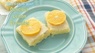 Lemon Brownies from Scratch - Super Easy Recipe