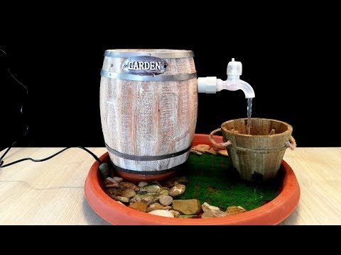 How to make a wine Barrel tabletop Fountain / DIY