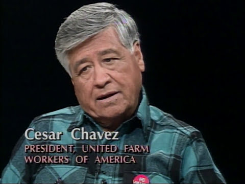 Cesar Chavez interview on Charlie Rose (1992)