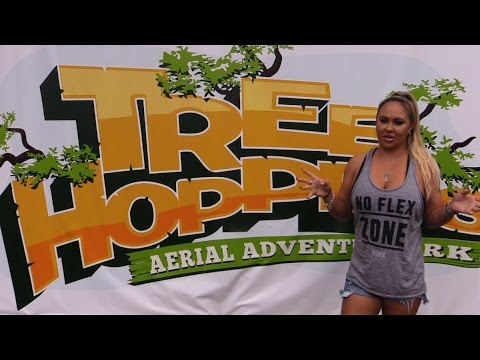 TreeHoppers Aerial Adventure Park Dade City Florida! Zipline