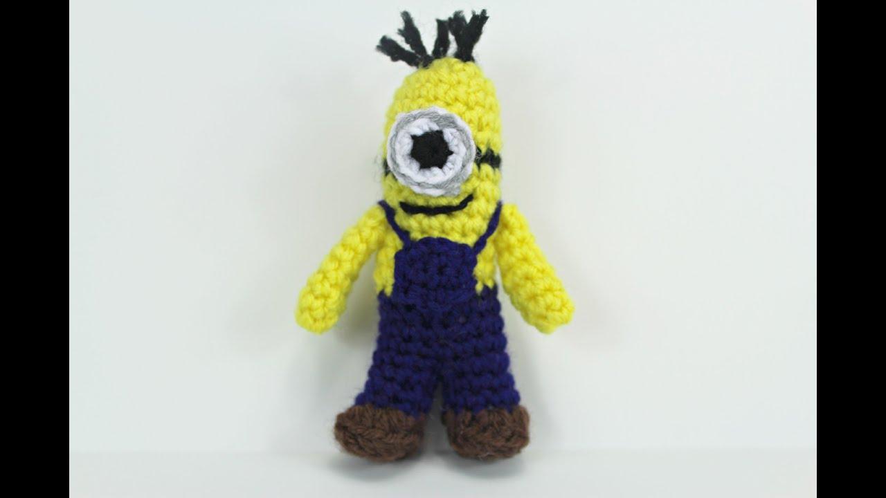 How to crochet a Mini-Minion inspired by amigurumi (Video 1 ...