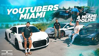 YOUTUBER SUPER CAR MEETING & THE MIAMI POLICE CAME TO HELP US!! | Dani Clos