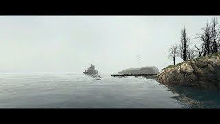2 Minutes and 30 Seconds of a Steamboat Sailing Along the coast in Half-Life 2 in Garry's Mod