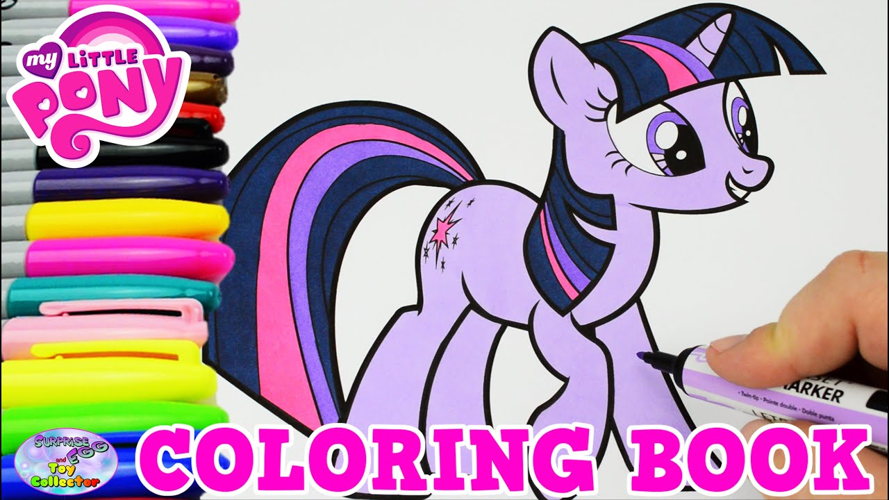 my little pony coloring book mlp twilight sparkle episode surprise