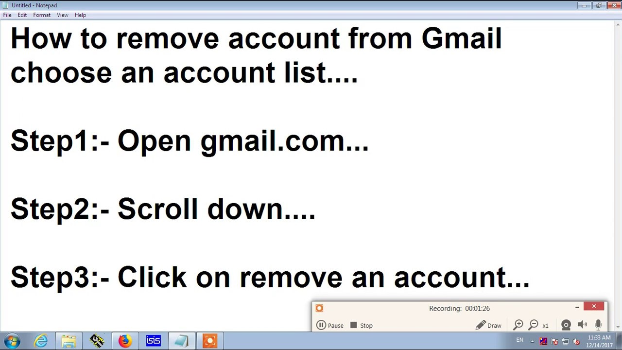 remove hotmail account from google gmail