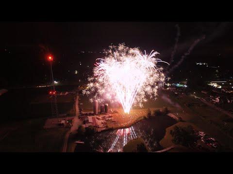 2016 Fireworks From A DRONE! Bainbridge, IN | Noah Poynter Media
