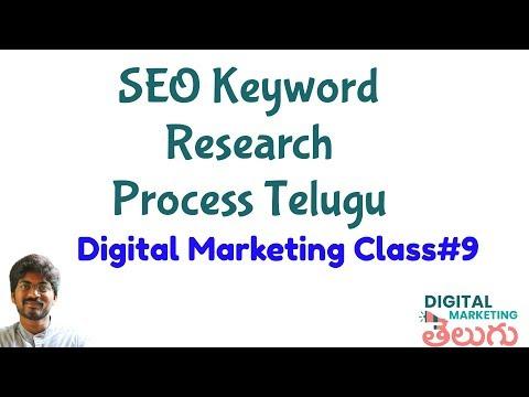 Complete SEO Keyword Research Process   Digital Marketing Course in Telugu Class 9