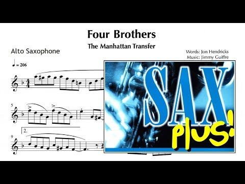 Four brothers - The manhattan T (Sheet Music ALTO SAX)