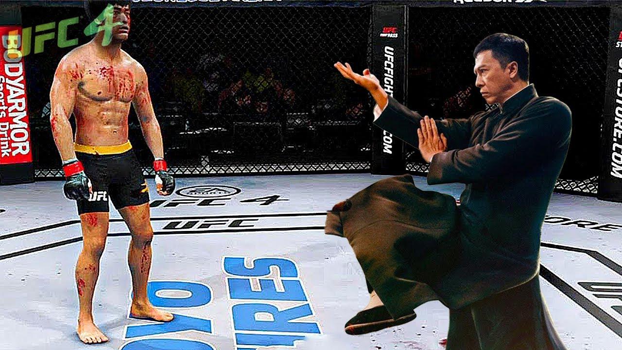 UFC4   Ip Man (Wing-Chun Master 葉問) vs. Bruce Lee EA sports UFC 4 - rematch
