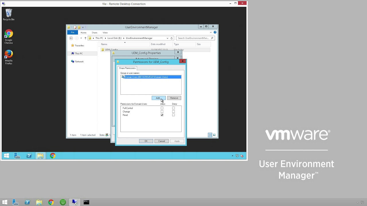 Quick-Start Tutorial for User Environment Manager | VMware