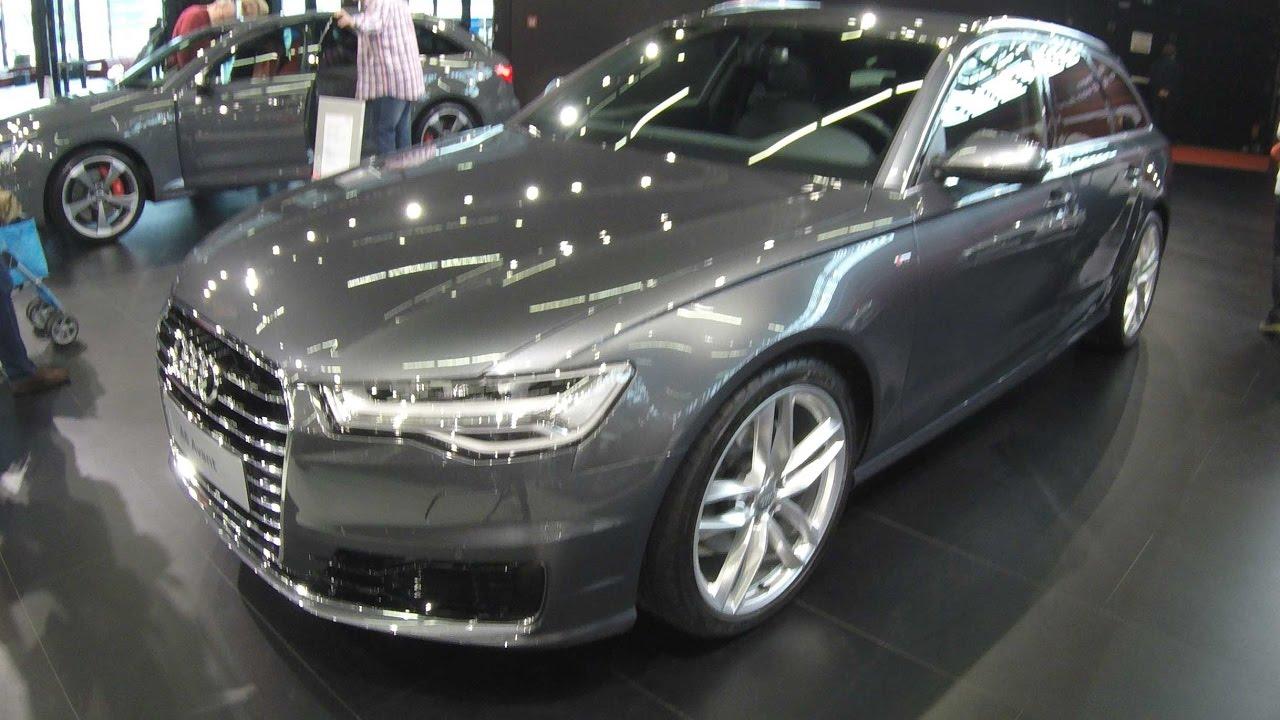 Audi A6 Avant S Line Daytona Grey Pearl Effect Walkaround Interior Model 2017