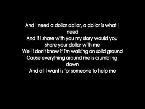 Aloe Blacc - I Need A Dollar (lyrics)