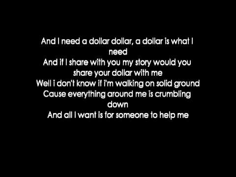 Aloe Blacc - I Need A Dollar (lyrics)