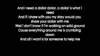 aloe blacc i need a dollar lyrics