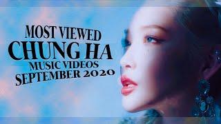 CHUNG HA: TOP 10 MOST VIEWED MUSIC VIDEOS (SEPTEMBER 2020) ♥