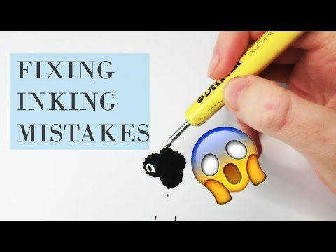INKTOBER HACK: Hack for Correcting Inking Mistakes  / How to Correct an ink mistake
