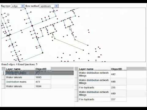 Water Utility Geometric Network Tracing